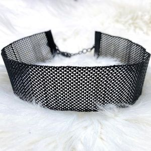 Thick Black Chain choker necklace
